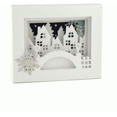 Silhouette Design Store - View Design #71474: 5x7 winter city shadow box card