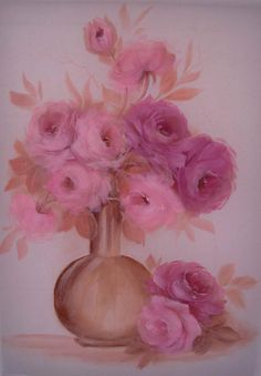 Floral - pintura sobre seda.