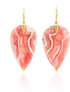 Shop M'O Exclusive: One-Of-A-Kind Rhodochrosite Simple Bird Earring. Exclusive to Moda, **Annette Ferdinandsen's** newest collection is inspired by the natural motifs and elements found in nature along the beach and life in the Bahamas. Bird Earrings, Hanging Earrings, Drop Earrings, Beach Jewelry, Fine Jewelry, Jewellery, Latest Fashion For Women, Dangles, Gemstones