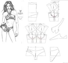 just in case i need this pattern Underwear Pattern, Lingerie Patterns, Sewing Lingerie, Jolie Lingerie, Dress Sewing Patterns, Clothing Patterns, Sewing Clothes, Diy Clothes, Ropa Interior Boxers