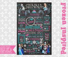 Frozen Birthday  Frozen Chalkboard  First by PickleNoodleBoutique