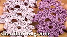 irish crochet flower tutorial - YouTube