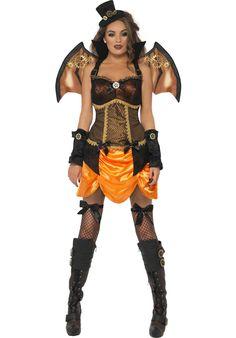 b4f0ec14cf00 Steampunk Sexy Bat Costume Terrifying Halloween Costumes