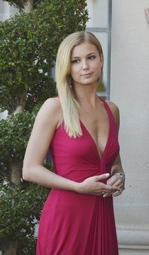 Emily Thorne Plunging Red Dress