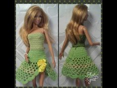 Эмма Сацкая - YouTube Barbie Dress, Barbie Clothes, Doll Clothes Patterns, Clothing Patterns, Doll Videos, Crochet Video, Barbie Friends, Crochet Fashion, Crochet Clothes