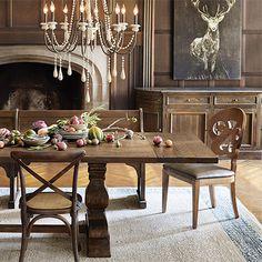 "Arhaus   Kensington 72"" Rectangle Extension Dining Table in Brown"