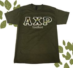 Spoil your greek sweetheart with a custom letter shirt. Fraternity Letters, Sorority Letters, Sorority Shirts, Greek Letter Shirts, Customize Your Own Shirt, Custom Greek Apparel, Greek Clothing, Custom Embroidery, Design Your Own