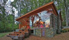 decorating a log cabinthe handmade home