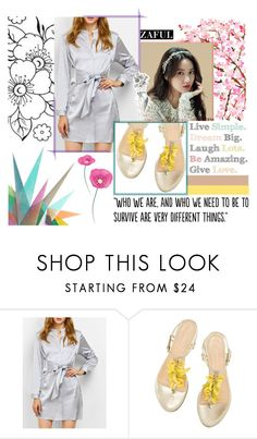 """#Simple"" by juromi ❤ liked on Polyvore featuring Krystal and Populaire"