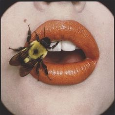 Bee on Lips by Irving Penn (1917–2009) for Dior Lipstick, September 22, 1995