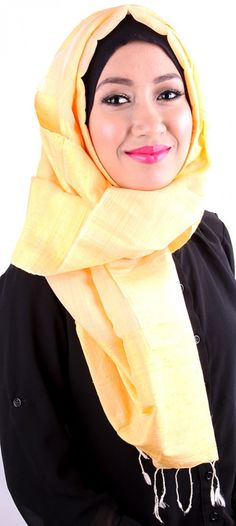 Earth Heir Silk Plain Shawl in Yellow,  Product Code: EH30106SLSKYW03 Availability: In Stock Order through Whatsapp/SMS: 019-292-5245 Expected delivery time (2-3 working days), RM365