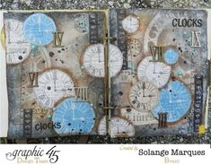 Art Journal by Solange Marques using Graphic 45 Time to Flourish collection 1