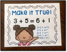 Number Talk Idea - Make It True