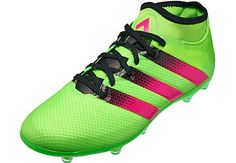188432482ca adidas ACE 16.2 Primemesh FG Soccer Cleat - Solar Green & Shock Pink -  SoccerPro.com