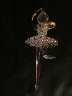 Spun glass Ballerina with Gold Filigree Ornament Gold Filigree, Glass Christmas Ornaments, Spinning, Ballerina, Brooch, Ebay, Jewelry, Hand Spinning, Jewlery