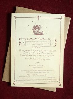 This Harry Potter shower invitation adds a touch of sophistication and whimsy to any baby shower or party.  Invitation Set Includes: Invitation