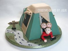 Camping cake by Creative Cakes by Julie, via Flickr