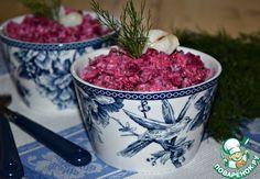 """Салат со свеклой и рыбой """"Зимний"""" - кулинарный рецепт"""