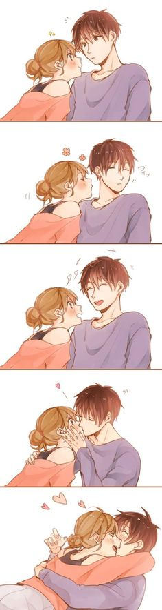 Please visit our website for Cute Couple Drawings, Anime Couples Drawings, Anime Couples Manga, Manga Anime, Couple Manga, Anime Love Couple, Cute Couple Comics, Cute Comics, Cute Anime Coupes
