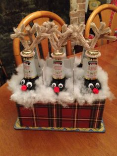 Beer bottle reindeers. My Christmas gift for my father in law.