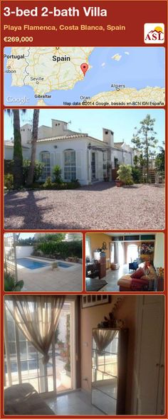 3-bed 2-bath Villa in Playa Flamenca, Costa Blanca, Spain ►€269,000 #PropertyForSaleInSpain