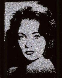 Elizabeth Taylor (pictures of diamonds) 2004 by Vik Muniz