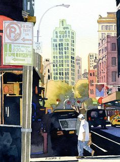 new york city by Don Gore (dgdraws), via Flickr