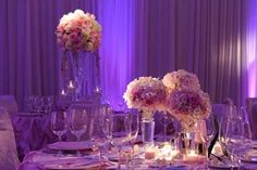 Center pieces and lighting