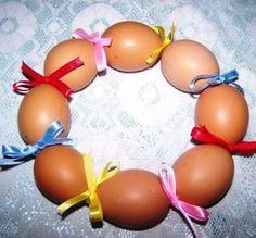 tojás koszorú