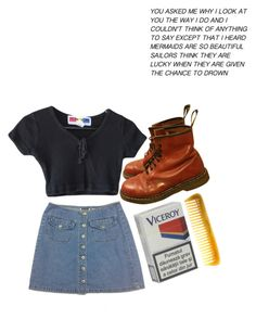 """UGH"" by gothic-unicorn ❤ liked on Polyvore featuring Hermès, Dr. Martens, women's clothing, women's fashion, women, female, woman, misses and juniors"