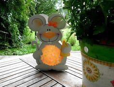 """Schlummerlampen - Laterne Maus """"Malwine"""" (Martinslaterne) - ein Designerstück von Fraeulein-Knuffig bei DaWanda"""
