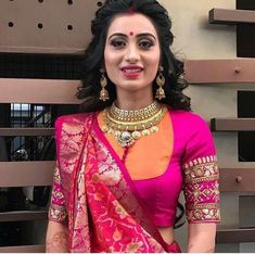 Elegant designer blouse with net saree Want to know more _ Blouse designs Choli Blouse Design, Saree Blouse Patterns, Fancy Blouse Designs, Designer Blouse Patterns, Bridal Blouse Designs, Blouse Neck Designs, Blouse Styles, Latest Blouse Designs, Designer Saree Blouses