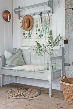 17 Coolest Hallway Furniture Ideas You can't let your hallway interior looks empty. It is recommended to design the hallway nicely using a hallway furniture. It is very easy to design the hallway because sometimes you just need to Hallway Furniture, Entryway Decor, Furniture Ideas, Hallway Decorations, Entryway Bench, Cheap Furniture, Vintage Furniture, Bedroom Furniture, Door Bench
