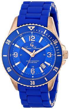 Lucien Piccard Men's LP-93608-RG-33 Moccasino Analog Display Swiss Quartz Blue Watch * Click image for more details.