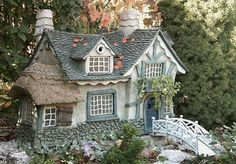 Fairy House, I want this in my backyard. Too cute! $295