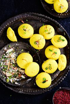 Kesar Malai Peda is a delicious and simple to make sweet which can be easily made at home. Here is a tried and tested recipe to make Kesar Malai Peda at home. Sweet Dishes Recipes, Sweets Recipes, Food Dishes, Food Food, Diwali Recipes, Food Platters, Easy Desserts, Yummy Recipes, Gourmet