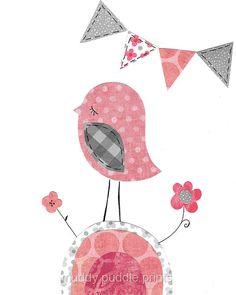 Pink and Grey Nursery decor Nursery art by MuddyPuddlePrints