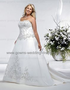 full figure wedding dresses | beach Plus Size Wedding Dresses Bridal