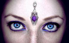Amethyst Tower Bindi fantasy jewelry goddess by AuroraEventide