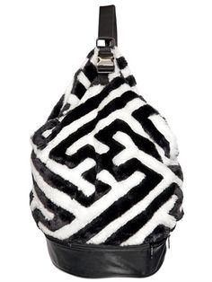 KTZ faux fur backpack - LUISAVIAROMA - LUXURY SHOPPING WORLDWIDE SHIPPING - FLORENCE