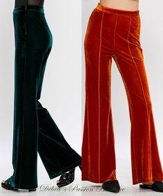 4c7d7d524c16 Velvet Seams Pants - Rust or Dark Green. Romper PantsRompersRustFashion  OutfitsSpandexVelvetSmall WaistWoodstockDark. Flying Tomato ...