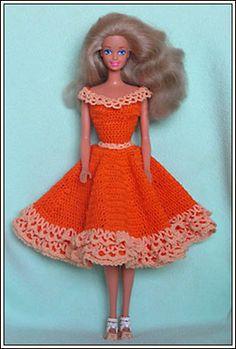 Barbie Crochet: Orange Summer, Pattern