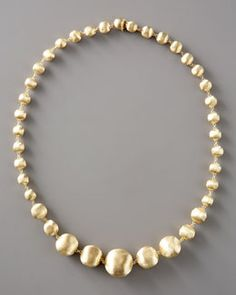 Marco Bicego. Graduated Gold Bead Necklace.