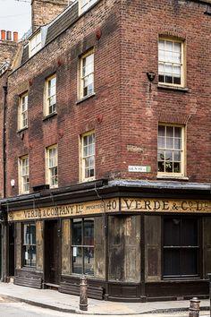 A historic brick building next to Old Spitalfields Market in east London, England. #london #spitalfields