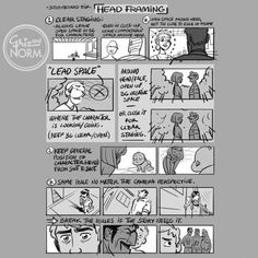Tuesday Tips — Head Space — As an audience, our eyes are mostly tracking the head (and eyes) of the main characters on screen. As filmmakers, it would be a great disservice to not take that info into consideration. For clarity, try to make space. Animation Storyboard, Animation Reference, Art Reference Poses, Drawing Reference, How To Storyboard, You Draw, Learn To Draw, Drawing Techniques, Drawing Tips