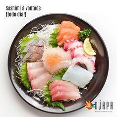 No rodízio do Djapa é assim, você come o que mais gosta, quantas vezes quiser.