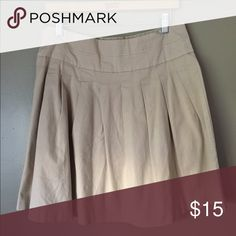 Khaki modest skirt Used but in good condition. Very cute and flattering. Size small. Skirts