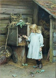 Charles Edward Wilson - Louisa - The Rabbit ca.  1920
