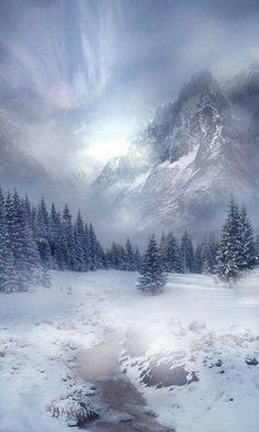 Misty Mountain & Schneetag - Natur/World - # Winter Szenen, Winter Magic, Winter Blue, Winter Trees, Winter Photography, Landscape Photography, Nature Photography, Photography Tips, Mountain Photography