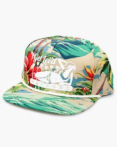 HUF Get Lei'D Hawaiian Snapback Hat Cap Tropical Surf Print | eBay